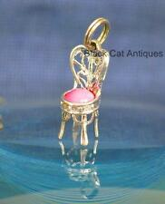 Sweet Little Froo Froo Fancy Princess Chair Silver & Pink Avon Charm