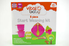 Vital Baby Kindergeschirr Set 8 teilig Start Weaning Kit Pink