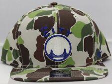9fbf3c03f Golden State Warriors 47 BRAND Bufflehead Flatbill Snapback Baseball Hat  Camo