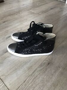 Geox Respira black glittery ankle boots, size 5 / Eur 38. New.