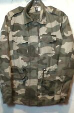 Divided H&M Womens Full Zip Camouflage Lined Jacket Size 2 No Hood