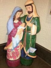 Jim Shore Holy Family Christmas Traditions Mary Jesus Joseph 2017 Large Figurine