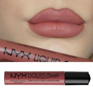 NYX Lipstick Nude Beige Liquid Suede Cream Lipstick Cruelty Free 🐰 Soft Spoken