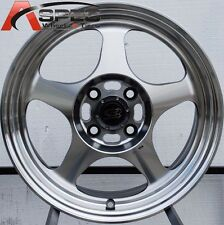 15X6.5 ROTA SLIPSTREAM RIM 4X100 POLISH WHEELS FITS 4 LUG CIVIC CRX FIT INTEGRA