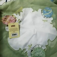 Xia Home lot of 7 Easter Egg Embroidered Cutwork Round Easter Placemats