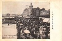 Atlantic City New Jersey c1905 Postcard Boardwalk Easter Sunday Parade