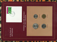 Coin Sets of All Nations Comoros Islands 1977 - 1994 UNC