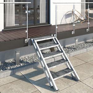 Metalltreppe Gartentreppe Stiege Aussentreppe – 5 Stufen,  Gitterrost 30x30x2
