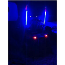 6Ft - Blue Color LED Whips Lighted LED Whip with Flag UTV RZR ATV Free Shipping