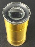 Ancien objectif ou lentille en laiton de microscope ? ou autre ? sans marque