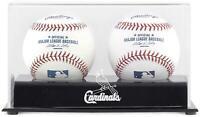 Cardinals Two Baseball Cube Logo Display Case - Fanatics