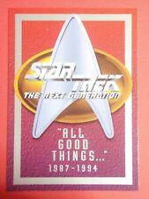 "Star Trek : The Next Generation - ""ALL GOOD THINGS …"" promo card : TNG 1994"