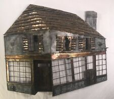 MCM Dimensional Metal Wall Art Sculpture Of A House Or Shop Jere Style