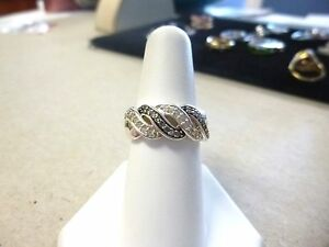 Sterling silver 925 REAL diamond ring