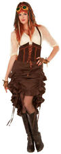 Adult Victorian Womens Steampunk Skirt 1920s Fancy Dress Outfit