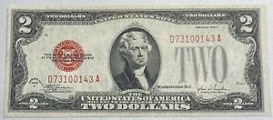 1928 F $2 United States Note Red Seal