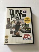 Triple Play 96 Sega Genesis COMPLETE w/ Reg. Card EA Sports PLEASE READ