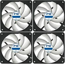 4 x Pack of Arctic Cooling F12 120mm PC Case Fan Rev 2 Quiet High Performance
