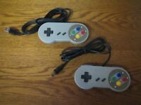 2x USB Super Nintendo Controller Gamepad Joypad SNES für PC MAC Computer *NEU*