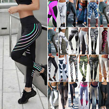 Damen Push Up Leggings Hohe Taille Tights Laufhose Fitness Yoga Gym Jogging Hose