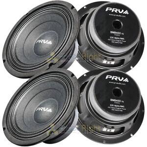 "4 Pack PRV 8"" Mid Bass Loudspeakers 450 Watts Max 8 Ohm Car Audio 8MB450 V2"
