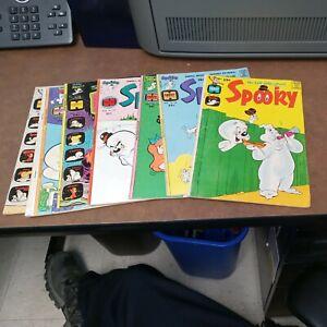 Spooky Comics 6 Issue Harvey Lot Run Set Bronze Age Cartoon Collection Tuff ghos