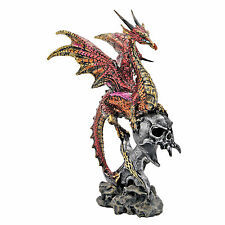 Dragon Wing Skull Statue Mythical Creature Medieval Gothic Decor Theme Artwork