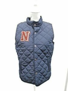 Next Boys Navy Blue Quilted Waterproof Gilet With Pocket Hood Age 14 Years BNWT