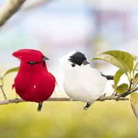 Fashion Clip-on Mini Fake Birds Red Bird Christmas Tree Ornaments Xmas Decor UK