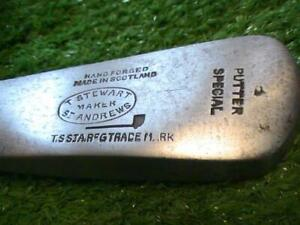 Antique Vintage TOM STEWART St Andrews Offset HILTON Pattern Putter Very Scarce