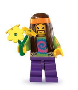 Lego minifig series 7 Hippie headband bag hippy city 9