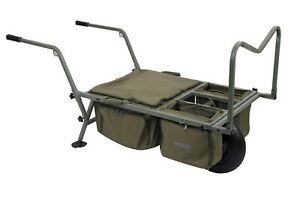 Trakker X-Trail Compact Barrow NEW Carp Fishing Barrow incl Front & 2 Side Bags