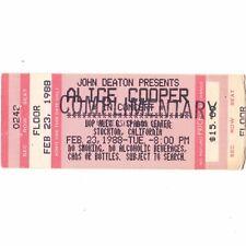 ALICE COOPER & MOTORHEAD Concert Ticket Stub STOCKTON CALIFORNIA 2/23/88 COMP