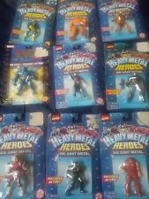 Marvel Action Figure Lot. Heavy Metal Heroes Die Cast Metal. 9 Rare Figures