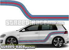 VW Volkswagen MARTINI side racing stripes 007 vinyl graphics stickers Golf GTi