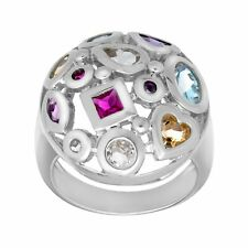 2 7/8 ct Natural Multi-Stone Ring in Sterling Silver