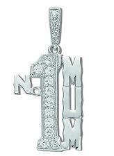 Mum Pendant Number One Mum Necklace Solid Silver Rhodium Plated Pendant