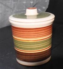 "Vintage DRAGON POTTERY Made in Wales Rhayader Decorated 4 1/2""h Lidded Pot Jar"