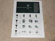 JBL Signature Drivers Ad, 1956, D130,D123, C34m, C38m, 175dlh,D75, N2500, 1 page