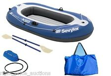 Sevylor Caravelle KK65 Inflatable Dinghy 2 Person Boat Set Oars Pump Bag KK 65