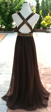 NWT Morrell Maxie $540 brown Evening Ball Prom Gown 6