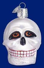 Skull Ornament Glass Old World Christmas 26021 14