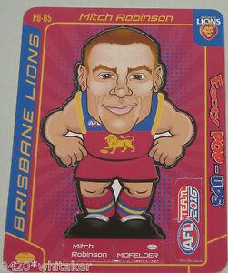 2016 Teamcoach Footy Pop-up #PU-05 Mitch Robinson - Brisbane Lions