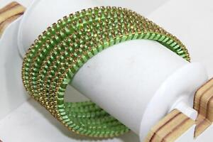 Indian Glass Bangles Set of 6  - stone with Thread Designed Wedding Favour