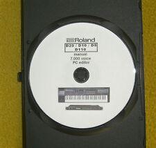Roland D110,D20,D10,D5 -  CD mit 7000 Voice