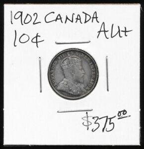 ^^SO NICE^^ 1902 CANADA 10¢ >> ORIGINAL BEAUTY >> VERY NEAR UNC !!  NO RESERVE