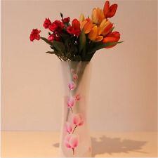 Foldable Plastic Unbreakable Reusable Flower PVC Durable Vase Party Wedding Home