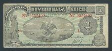 F.C. MEJICO MEXICO , GOB. PROVISIONAL , 1 PESO 1916 , MBC- ( VF ) , S/N , P.S709