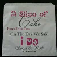 Personalised White Vintage Cake Bags for Weddings /& Events