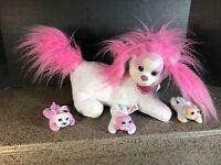 Puppy Surprise Mandy & her Pups Plush Doll 3 babies puppies dog Hasbro 2015 EUC!